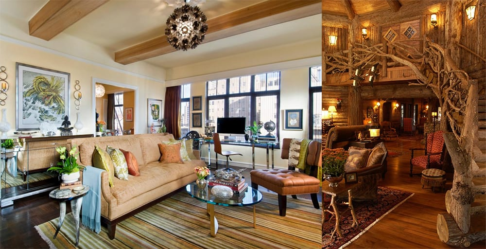 Wooden finishing for walls and ceilings in living room 2018 interior trends 2018