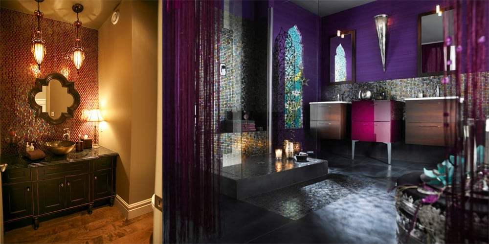 Iridescent-tiles-Tiles-Moroccan-bathroom-2018-bathroom-trends-bathroom-ideas-2018-Moroccan bathroom Decor