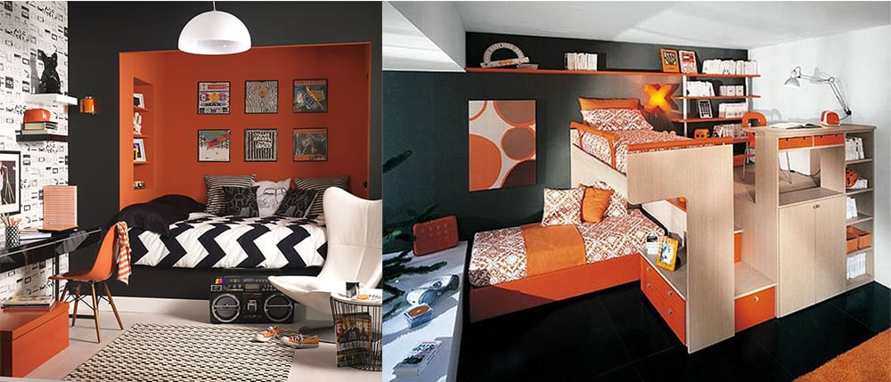 Black-and-orange-Boys-room-2019-boys-bedroom-decor-boys-room-design