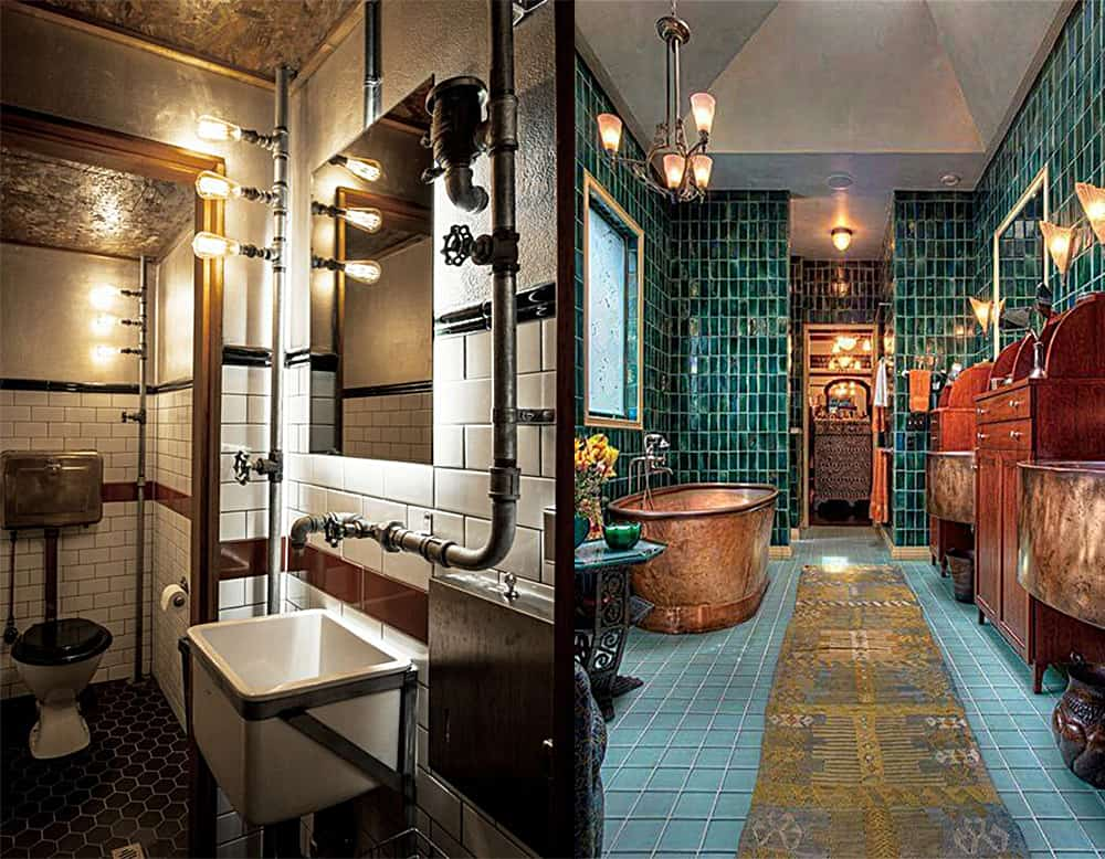 Brass-Steampunk-bathroom-bathroom-designs-2020-bathroom-decor-ideas-Bathroom designs 2020