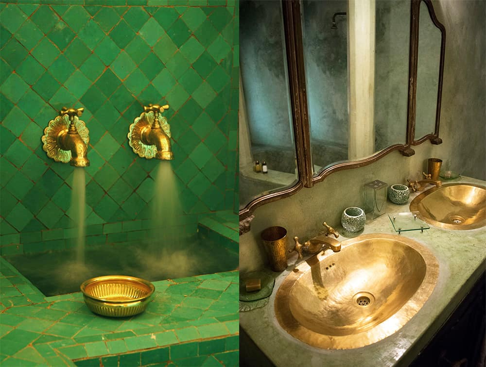 Brass-elements-Moroccan-bathroom-2018-bathroom-trends-bathroom-ideas-2018--Moroccan bathroom-2018 bathroom trends