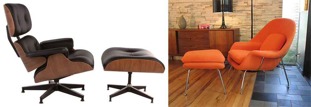 Chairs-with-ottoman-Mid-century-interior-home-design-ideas-mid-century-decor-Home design ideas