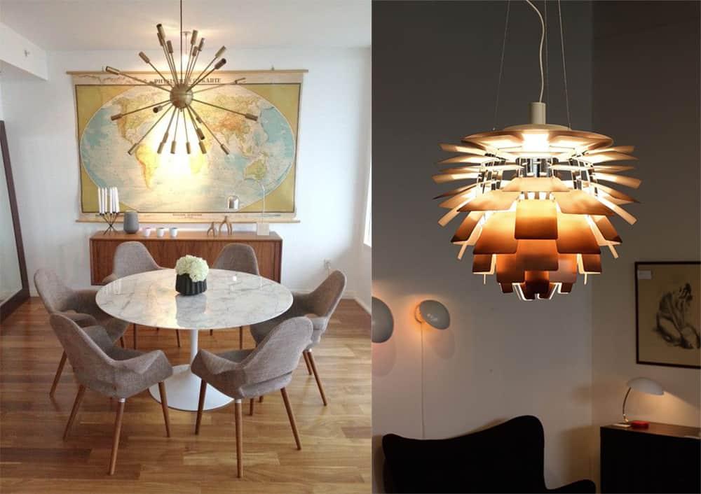 Chandeliers-Mid-century-interior-home-design-ideas-mid-century-decor-Mid century decor