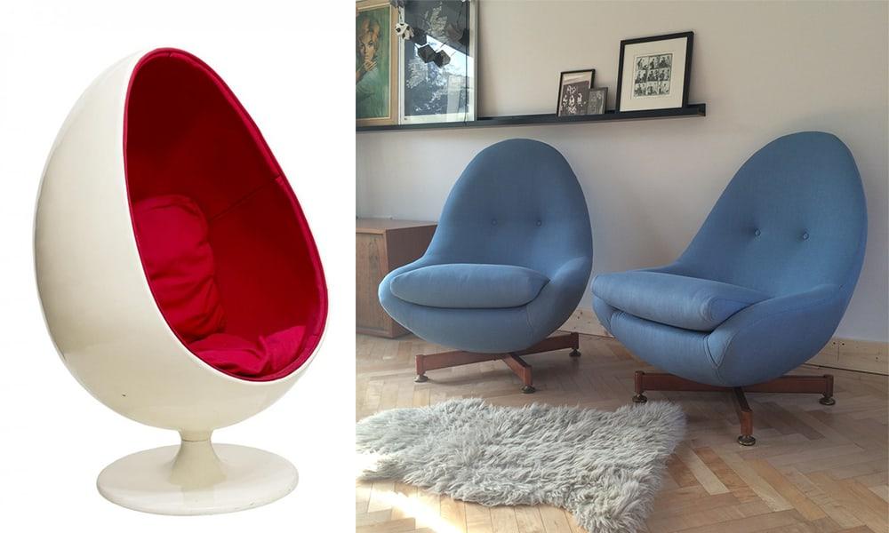 Egg-chairs-Mid-century-interior-home-design-ideas-mid-century-decor-Home design ideas