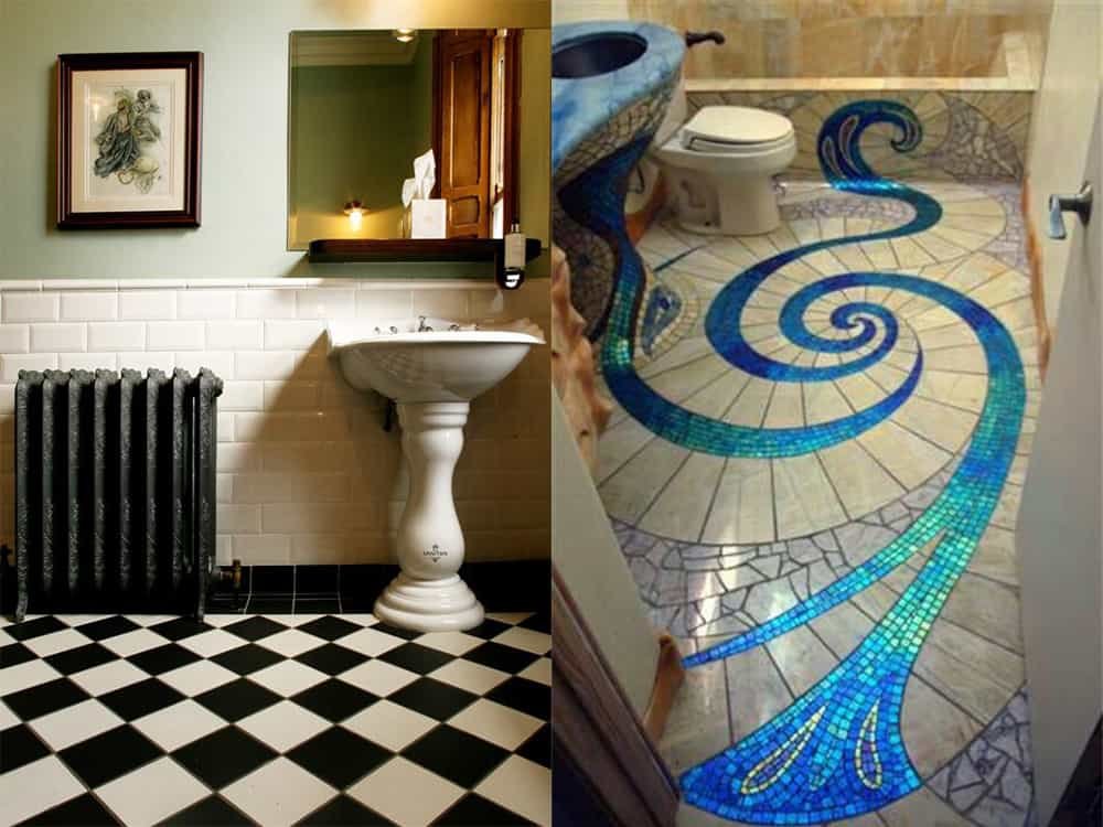Flooring-Steampunk-bathroom-bathroom-designs-2020-bathroom-decor-ideas-Bathroom designs 2020