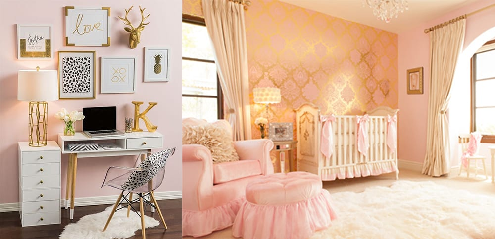 Pink-gold-Interior-color-combinations-home-trends-2018-interior-color-schemes-interior color combinations