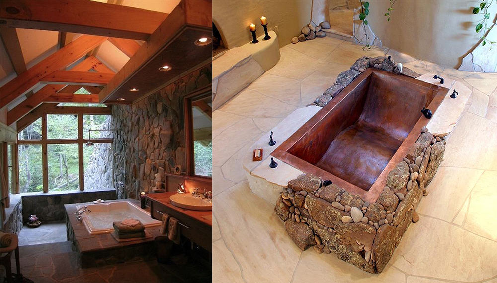 Rectangular-bathtub-Rustic-bathroom-decor-contemporary-bathroom-design-bathroom-design-ideas-Rustic bathroom decor