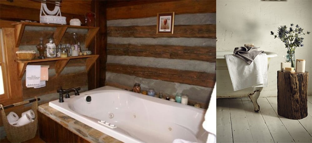 Rustic-jars-and-wildflowers-Rustic-bathroom-decor-contemporary-bathroom-design-bathroom-design-ideas-contemporary bathroom design