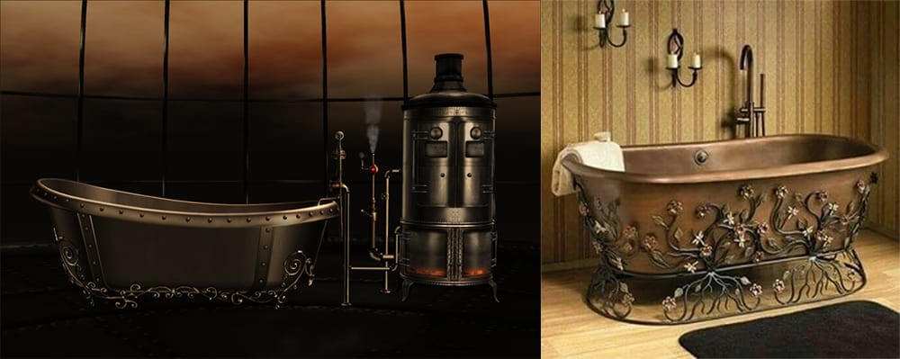 Steampunk-bathroom-bathroom-designs-2020-bathroom-decor-ideas-Steampunk bathroom