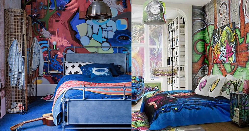 Street-art-Teen-room-2018-teen-bedroom-ideas-teen-room-design-teen bedroom ideas