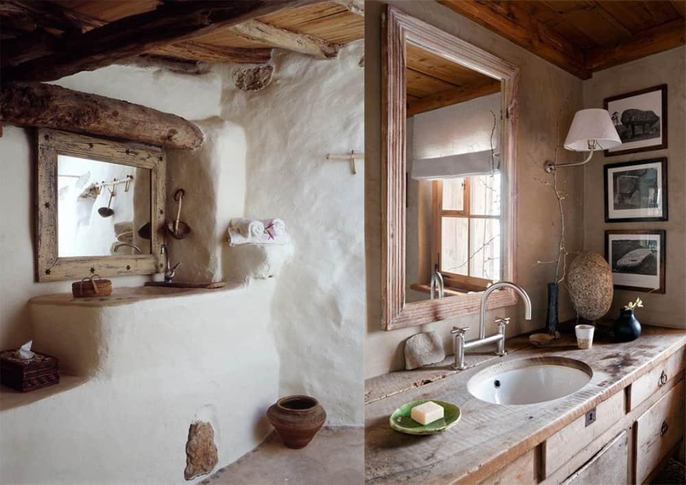 Contemporary Bathroom Design: Incredible Rustic Bathroom Decor