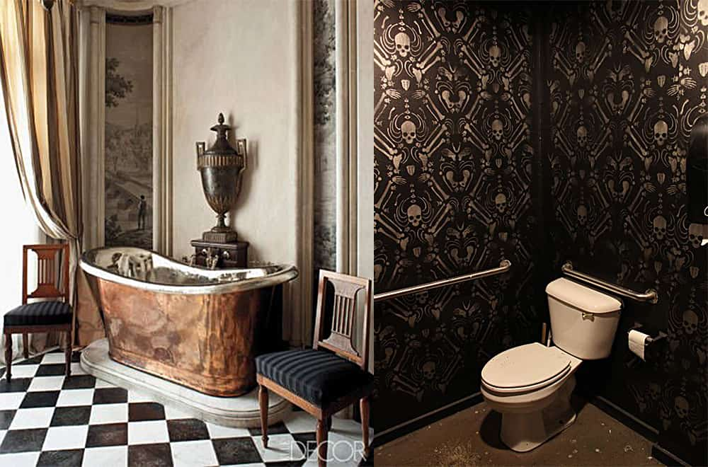 Walls-Steampunk-bathroom-bathroom-designs-2020-bathroom-decor-ideas-Bathroom decor ideas