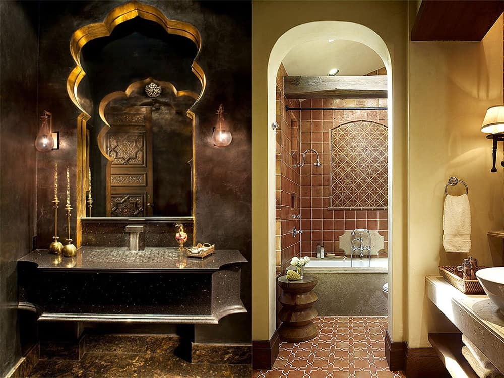 Warm-shaded-Moroccan-bathroom-2020-bathroom-trends-bathroom-ideas-2020-Moroccan bathroom-2020 bathroom trends