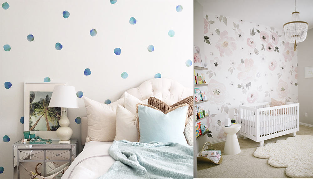Watercolor-motifs-Girls-bedroom-2019-girls-room-design-girls-bedroom-decor