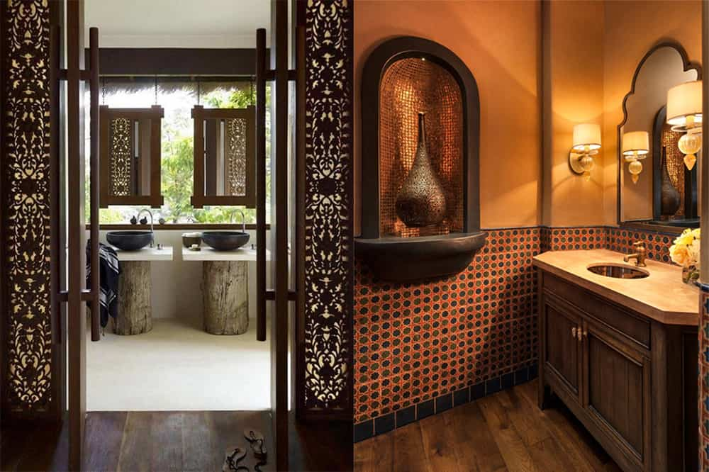 Wooden-elements-Moroccan-bathroom-2018-bathroom-trends-bathroom-ideas-2018-bathroom ideas 2018