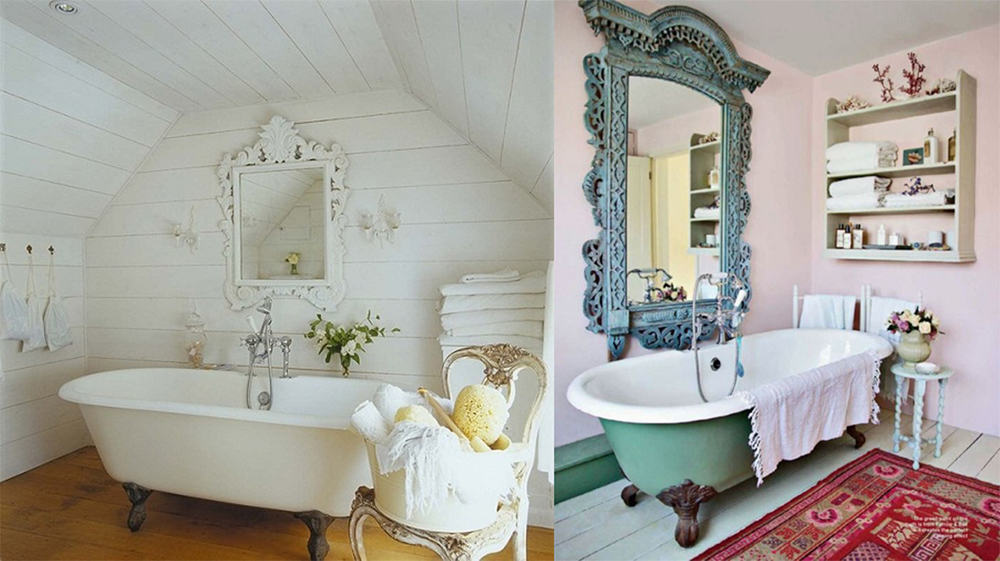 bathtub shabby chic bathroom bathroom decor ideas bathroom - Bathroom Decorating Ideas Shabby Chic