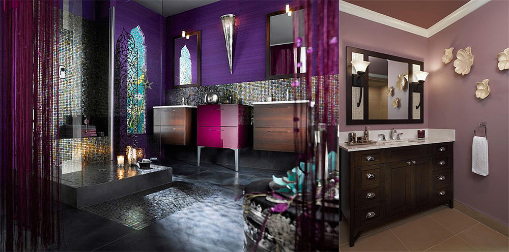 Contemporary bathroom design magic purple bathroom ideas for Light purple bathroom accessories