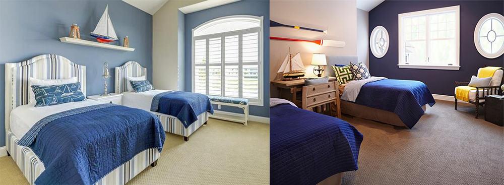 blue in nautical bedroom bedroom decorating ideas modern bedroom