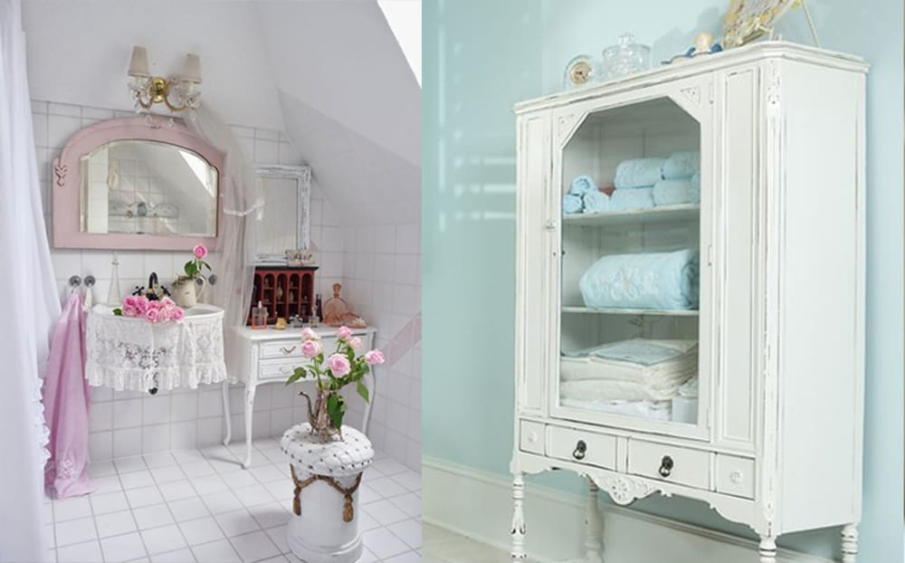 Cabinets Shabby Chic Bathroom Bathroom Decor Ideas Bathroom