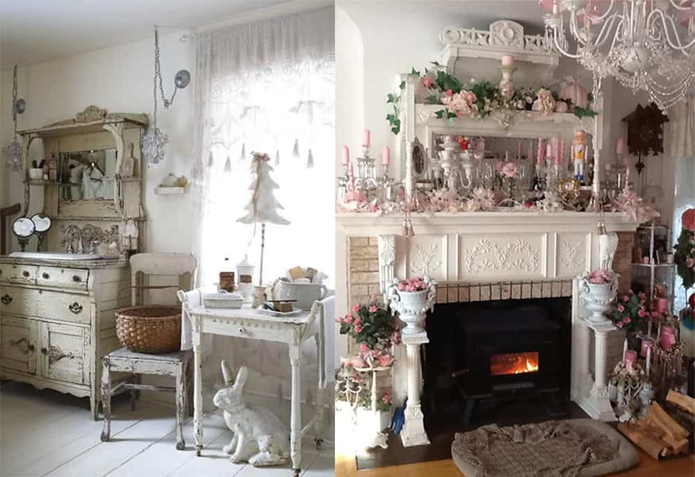 Interior decorating ideas shabby chic interior design Homemade interior design ideas