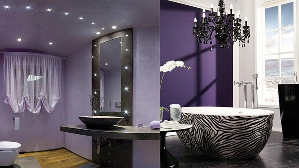 Contemporary bathroom design magic purple bathroom ideas for Bathroom ideas violet