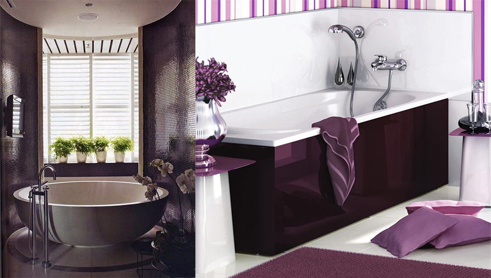 Contemporary bathroom design magic purple bathroom ideas for Dark purple bathrooms