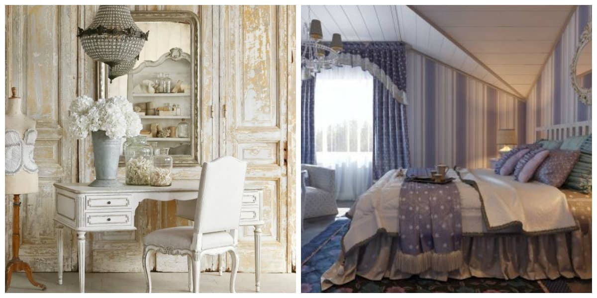 Provence bedroom, stylish accessories in Provence style bedroom