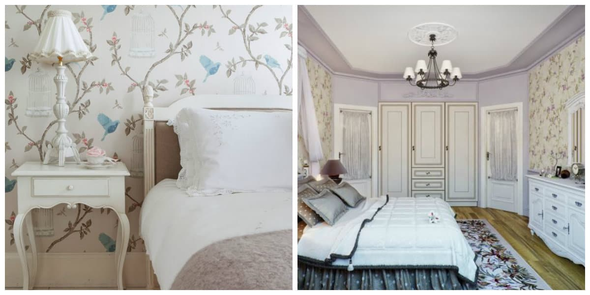 Provence bedroom, Wallpaper design and idea for Provence style bedroom