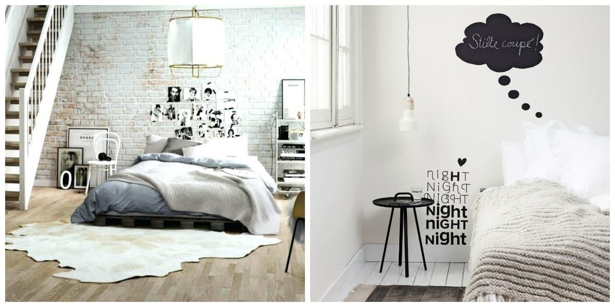 Scandinavian style bedroom, decor ideas in Scandinavian style bedroom