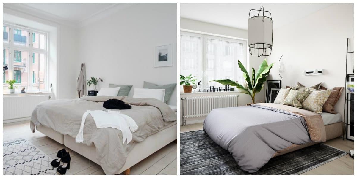 Scandinavian style bedroom, free space in Scandinavian style bedroom