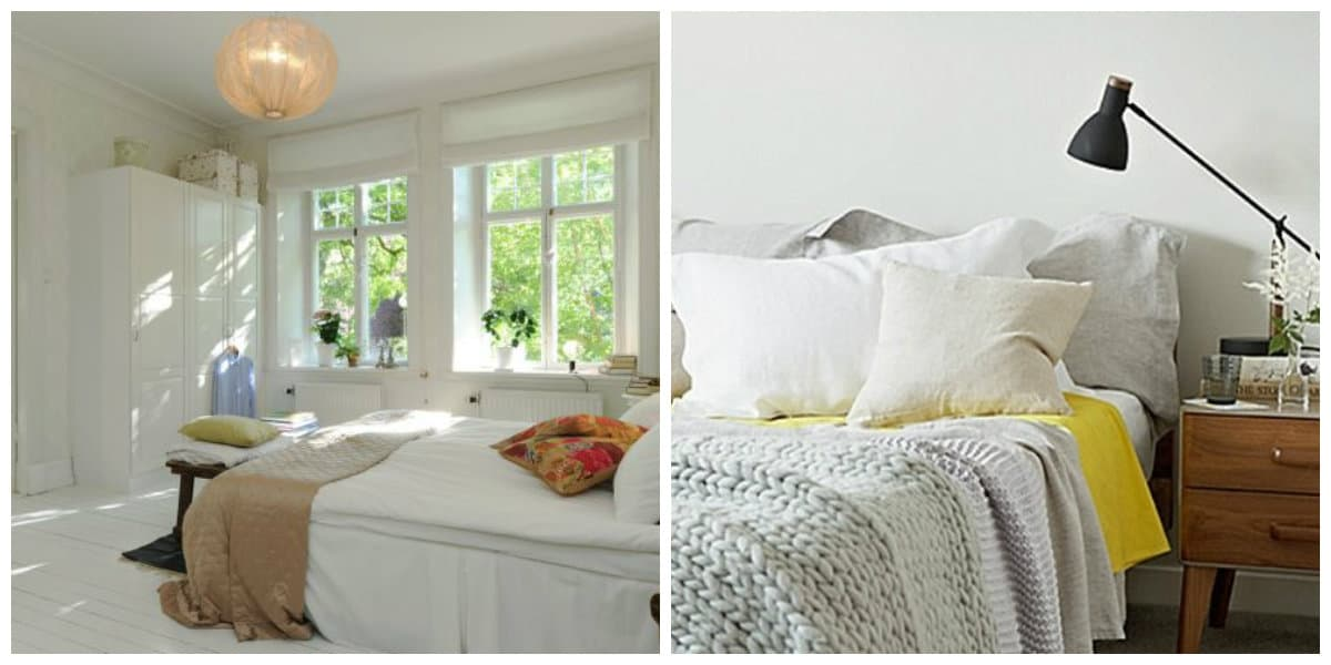 Scandinavian style bedroom, lighting ideas in Scandinavian style bedroom