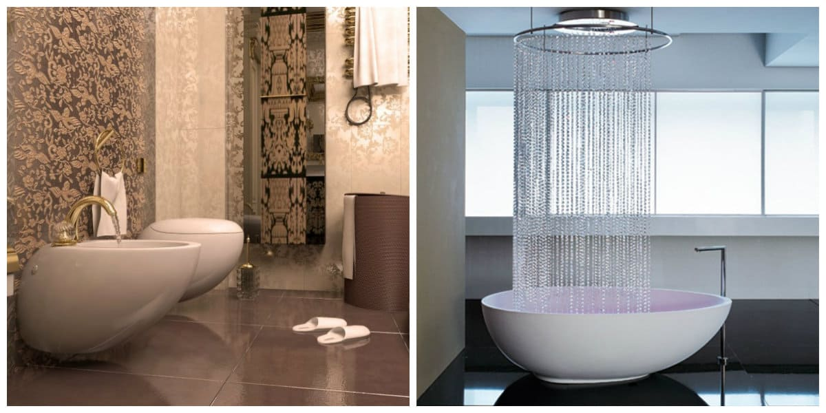 Italian style bathroom, bathtub design in Italian style bathroom