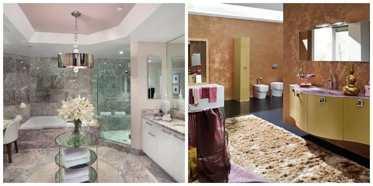 Italian style bathroom, trendy colors of Italian style bathroom