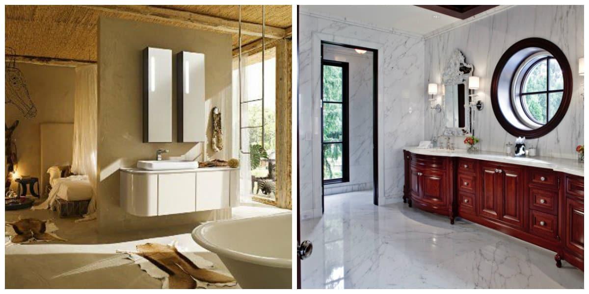 Italian style bathroom, window design in Italian style bathroom