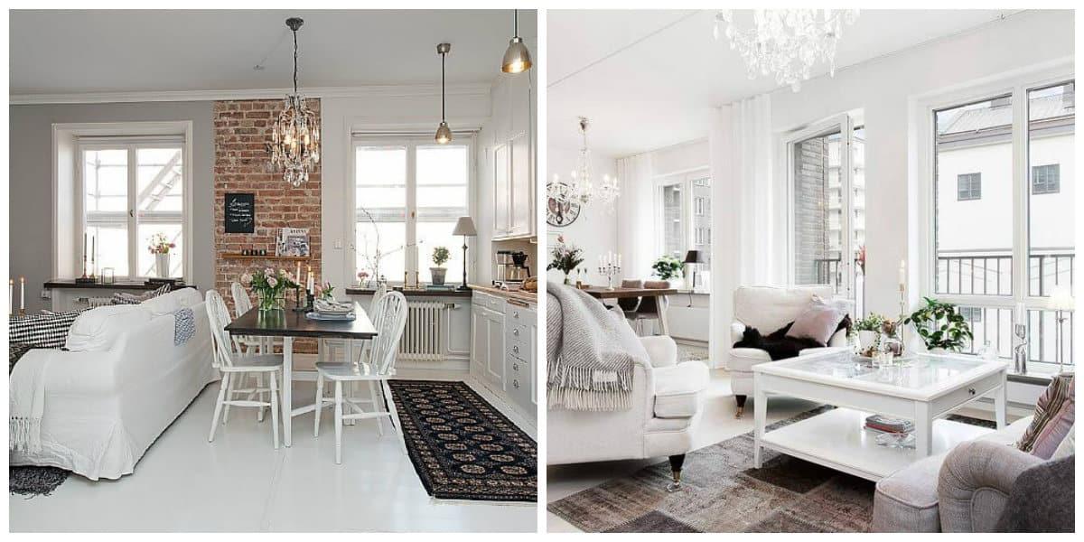 Scandinavian apartment design, bright colors in Scandinavian apartment design