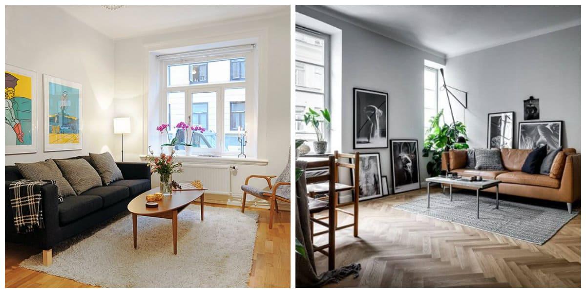 Scandinavian apartment design, design ideas in Scandinavian apartment design