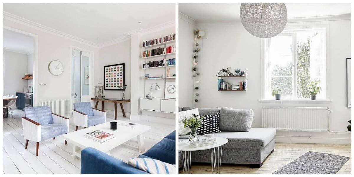 Scandinavian apartment design, flooring in Scandinavian apartment design