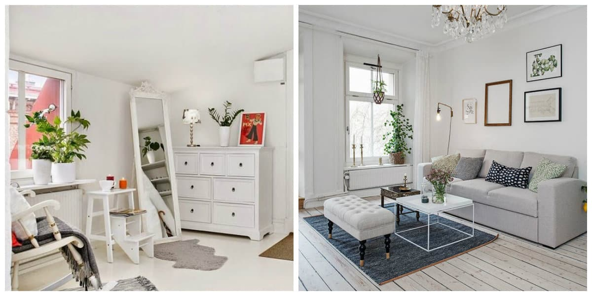 Scandinavian apartment design, furniture design in Scandinavian apartment design