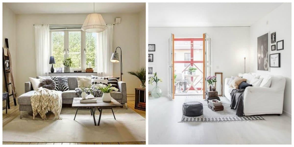 Scandinavian apartment design, materials in Scandinavian apartment design