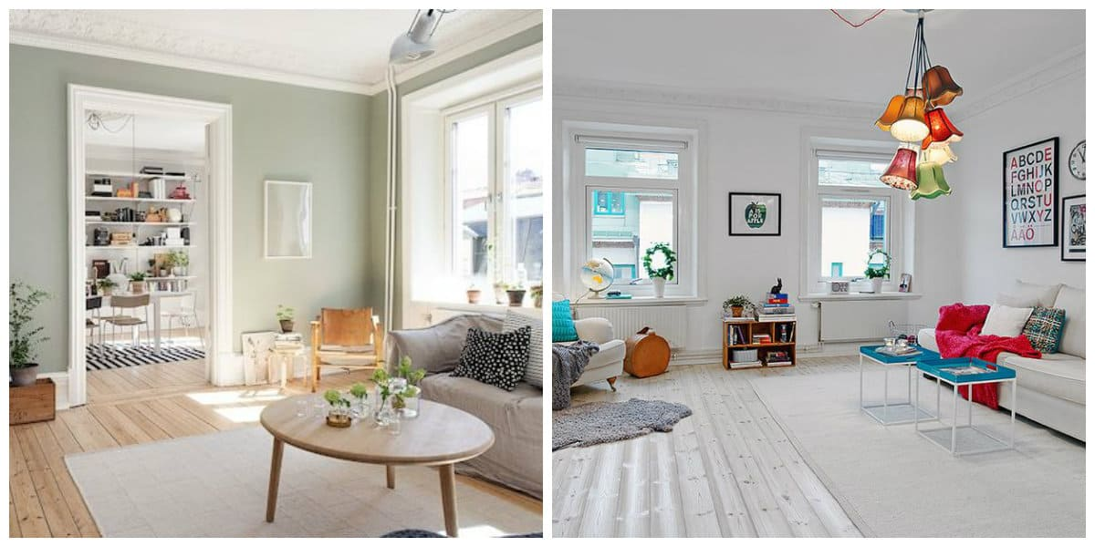 Scandinavian home design, trendy colors of Scandinavian home design