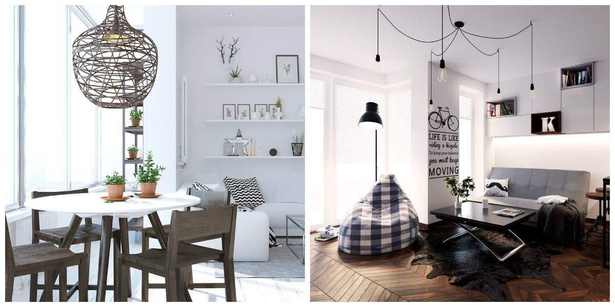 Scandinavian home design, lighting ideas in Scandinavian home design