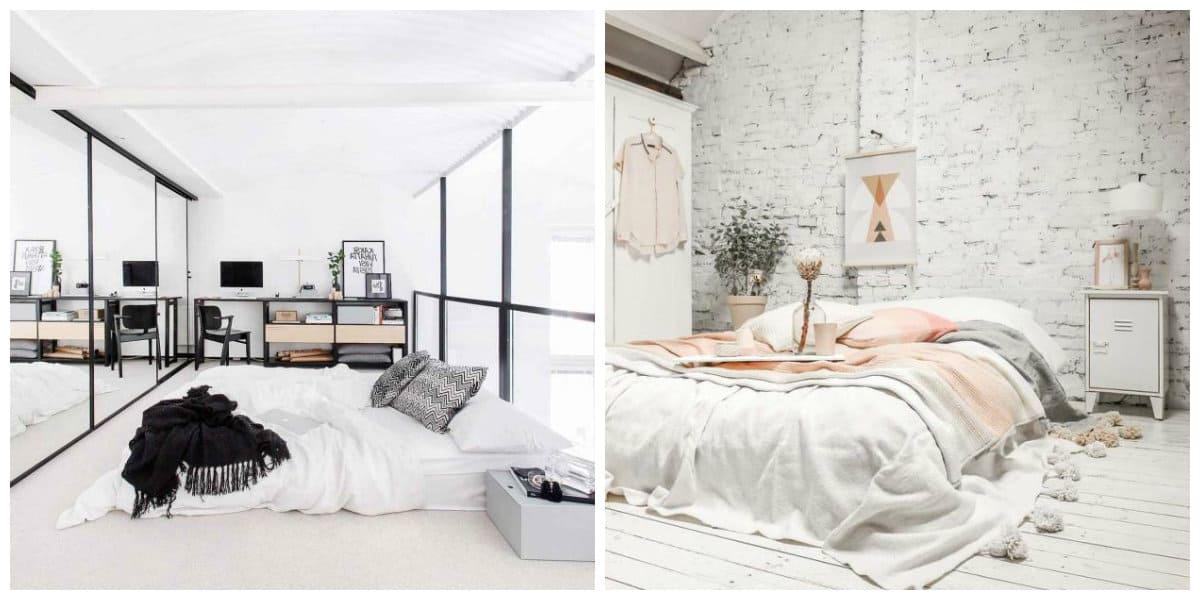 Scandinavian interior design, bedroom design in Scandinavian style