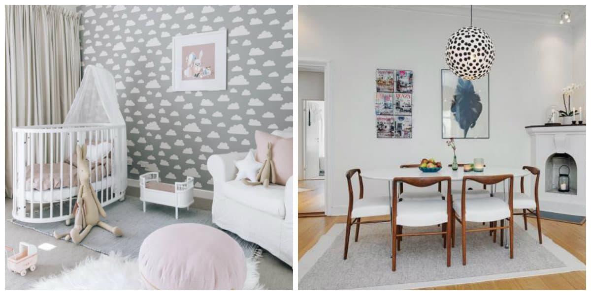 Scandinavian interior design, trendy colors in Scandinavian interior design