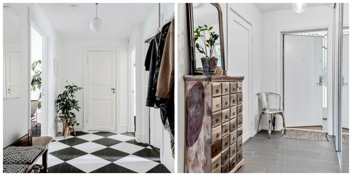 Scandinavian interior design, hallway design in Scandinavian interior style