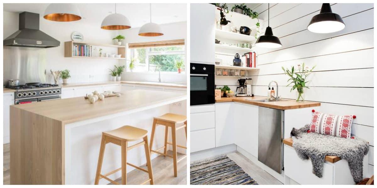 Scandinavian interior design, kitchen design in Scandinavian style