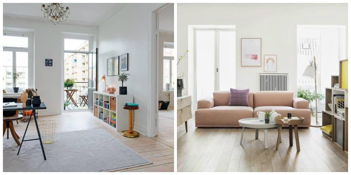 Scandinavian interior design, materials in Scandinavian interior design