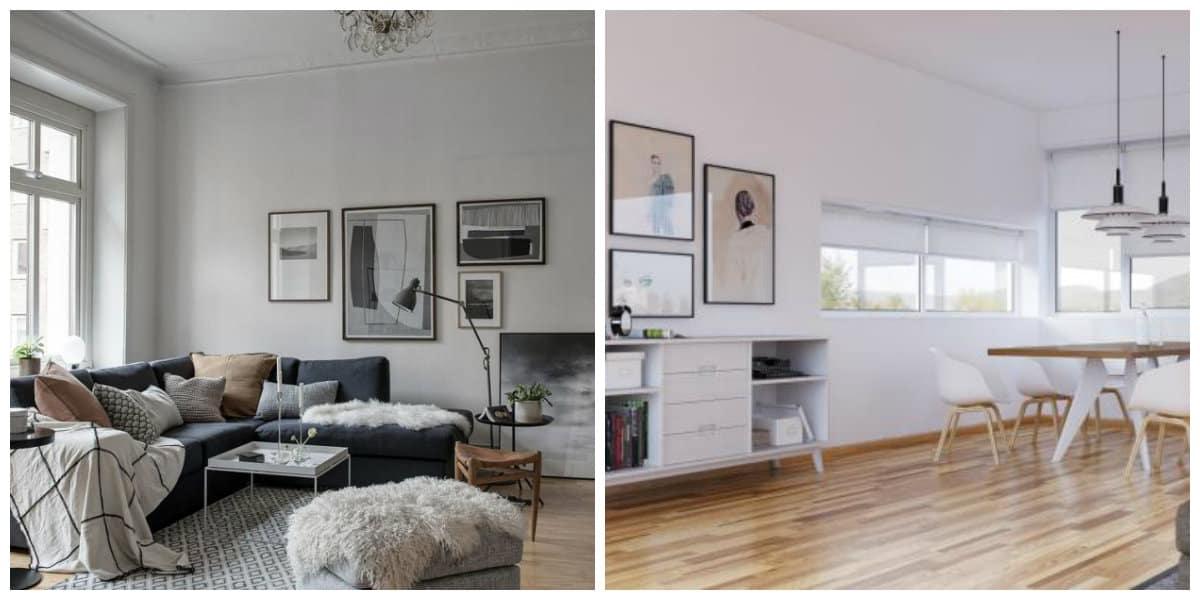 Scandinavian interior design, variants of Scandinavian interior design