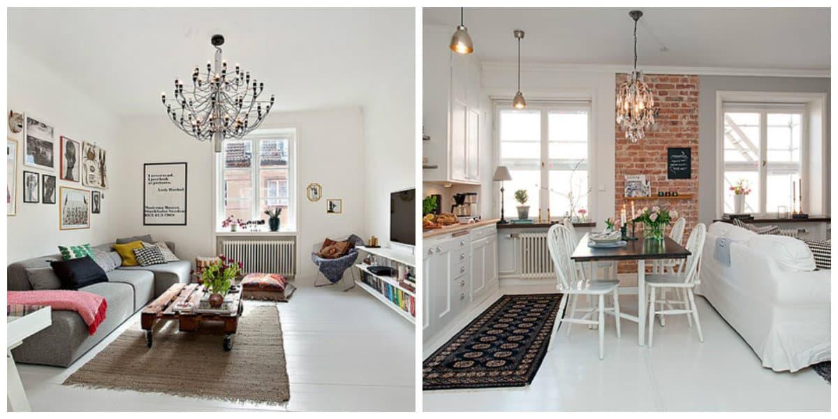 Scandinavian style chandeliers, living room chandeliers in Scandinavian style