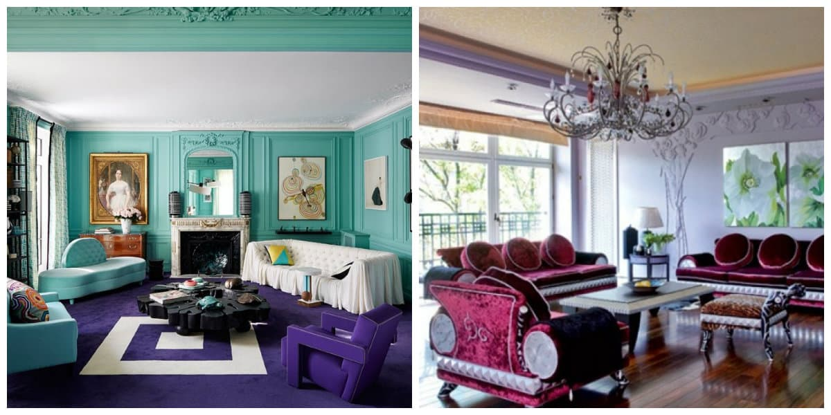 art deco interior style, trendy colors in art deco interior style