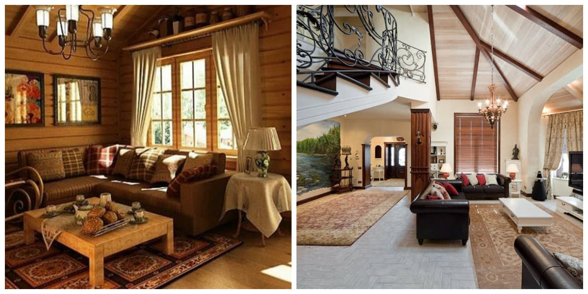 country style house, Russian country house interior design